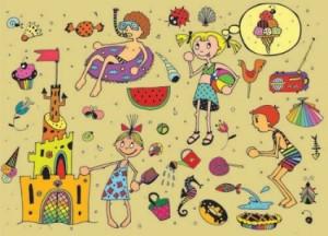cartoon_kids_in_summer_01_vector_160277